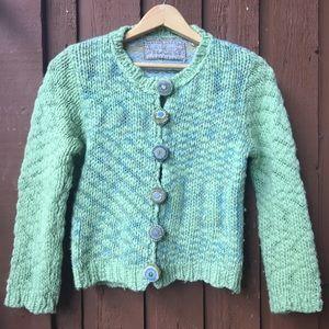 Free People Sweater Cardigan Women's M Green Blue